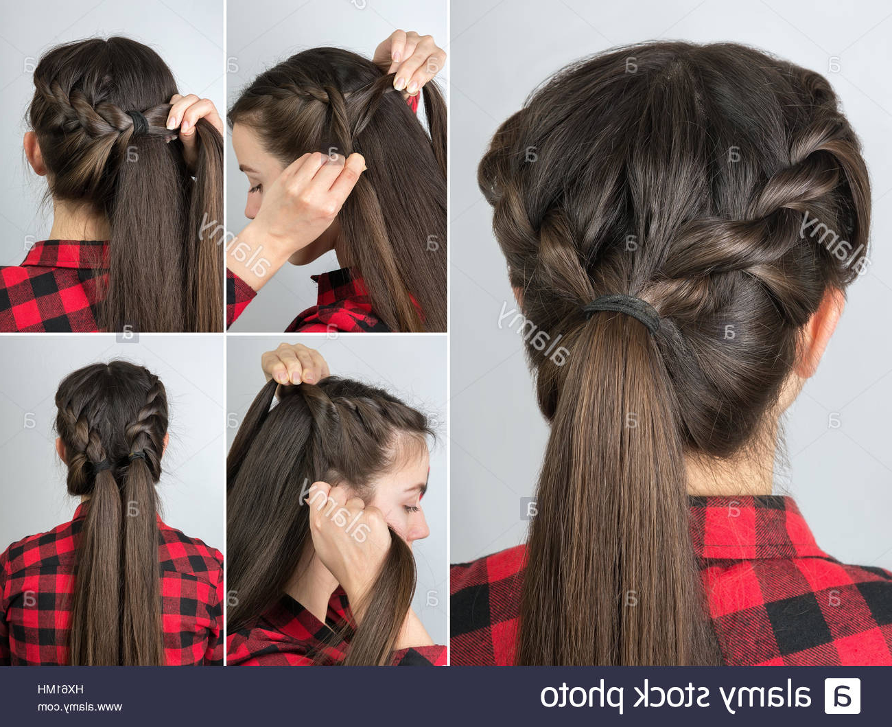 Preferred Simple Pony Updo Hairstyles With A Twist Pertaining To Simple Twisted Hairstyle Tutorial Stepstep. Easy (Gallery 7 of 20)