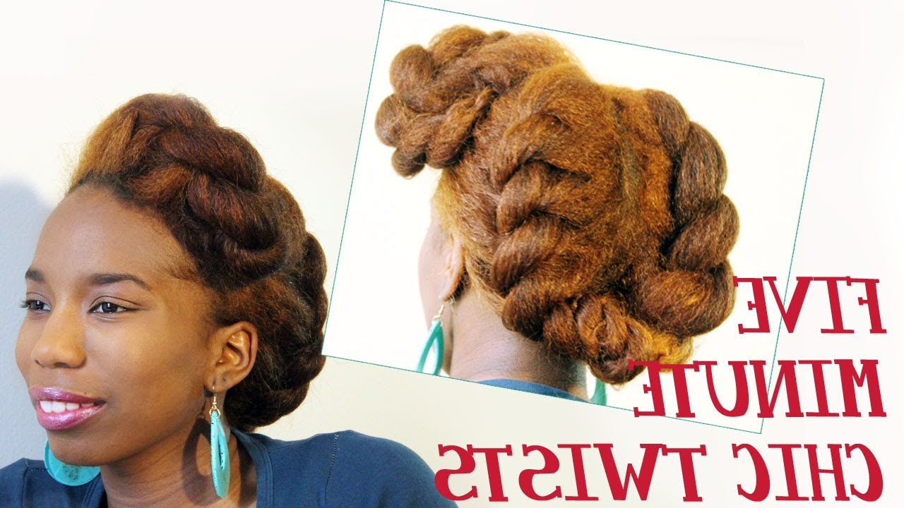 Preferred Wide Crown Braided Hairstyles With A Twist With Regard To 5 Ways To Do Milk Maid/halo Crown/goddess Braids On Natural (Gallery 2 of 20)