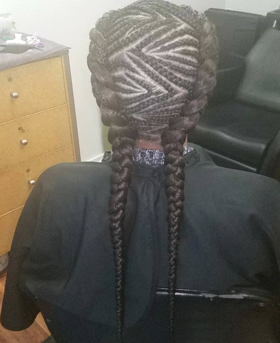 Preferred Zig Zag Cornrows Braided Hairstyles Within 30 Beautiful Fishbone Braid Hairstyles For Black Women (Gallery 14 of 20)