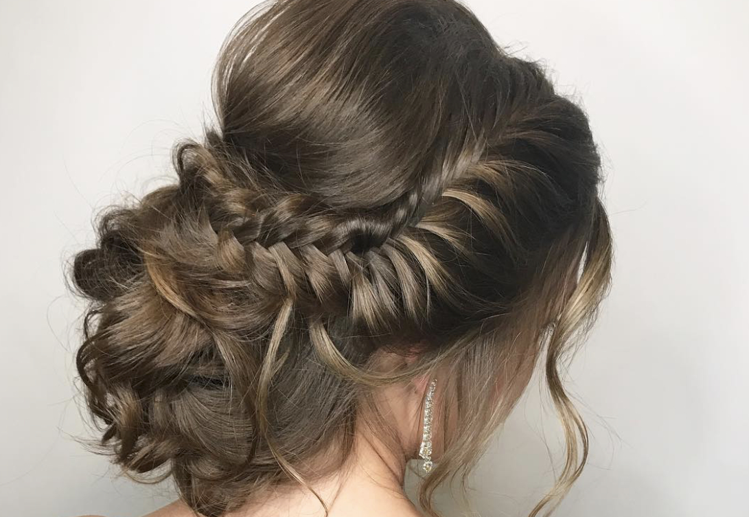 Prom Hairstyles Trending On Instagram In Most Up To Date Softly Pulled Back Braid Hairstyles (Gallery 17 of 20)