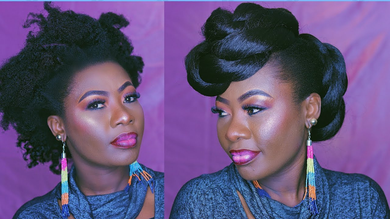 Protective Style .. Easy Twisted Faux Hawk Updo Inside Trendy Twisted Faux Hawk Updo Hairstyles (Gallery 3 of 20)