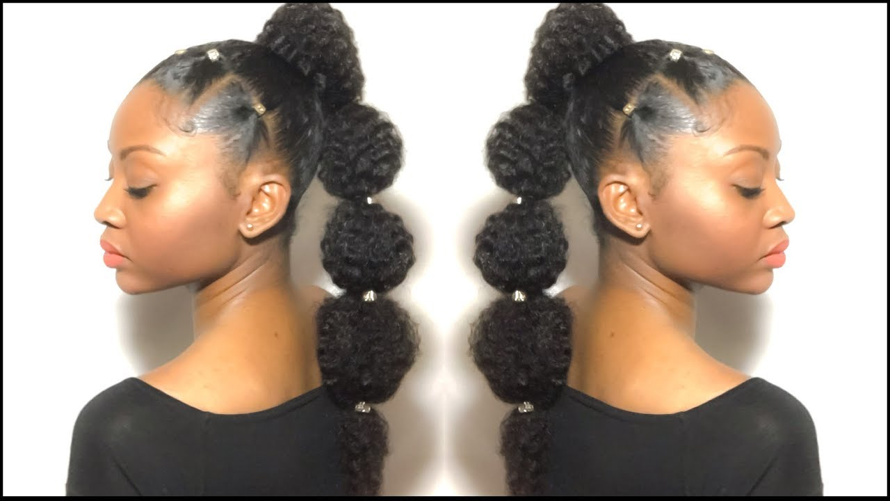Protective Style Pertaining To Current Bubble Pony Updo Hairstyles (View 7 of 20)