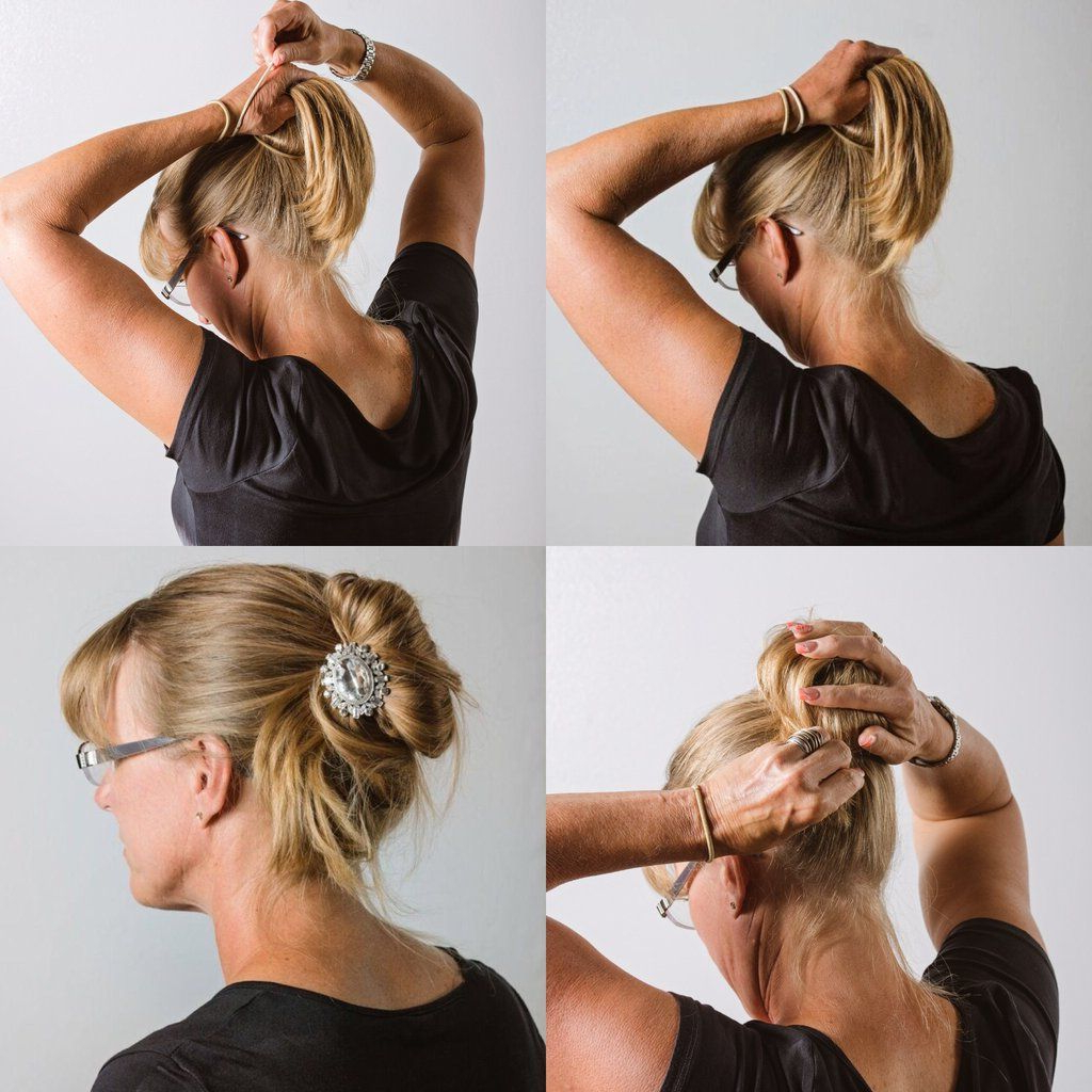 Quick Instructions For Adding The Bling Your Bun! Charm To With 2019 Blinged Out Bun Updo Hairstyles (Gallery 3 of 20)