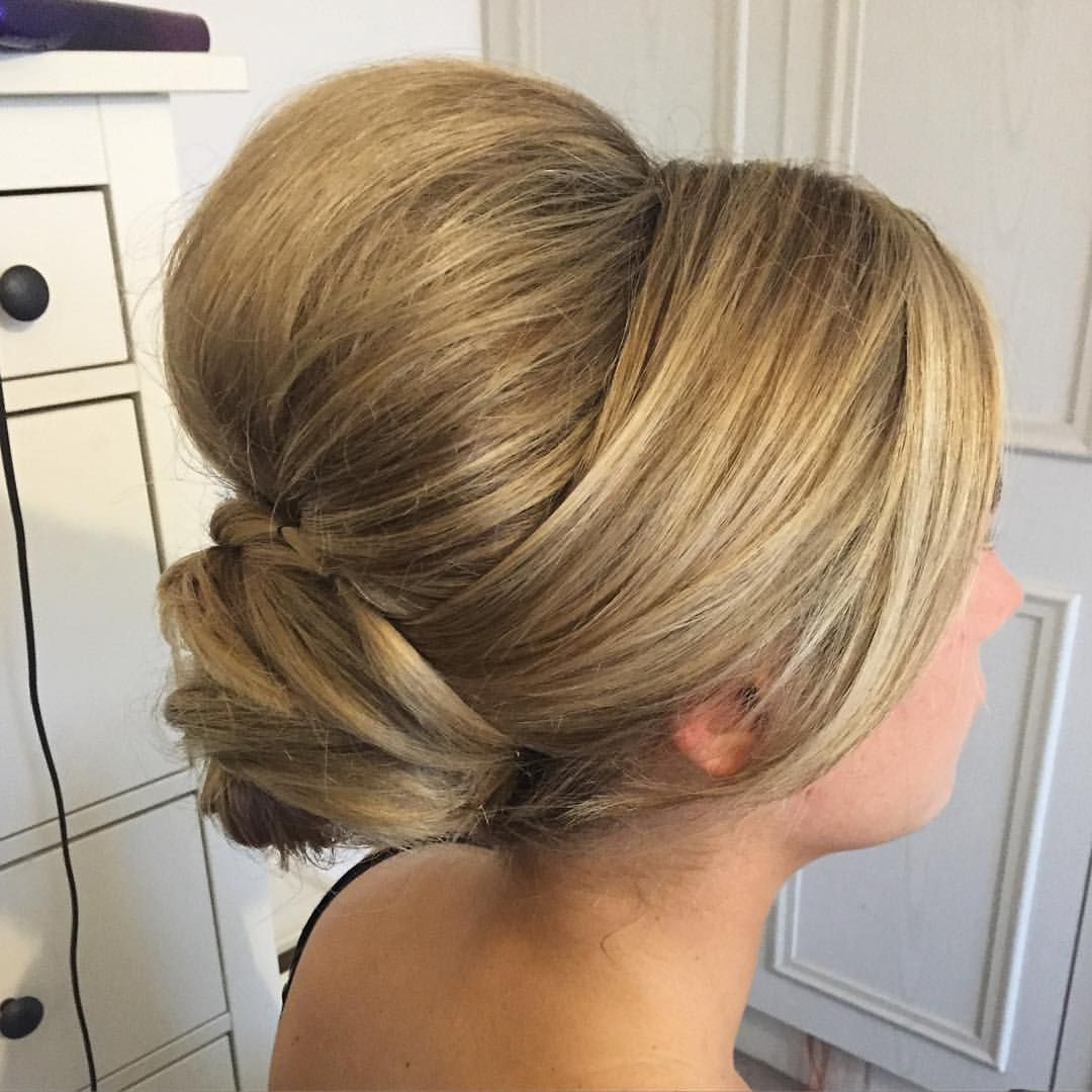 Ready For The Wedding This Morning High Volume / Low Bun Pertaining To Most Up To Date High Volume Donut Bun Updo Hairstyles (View 18 of 20)