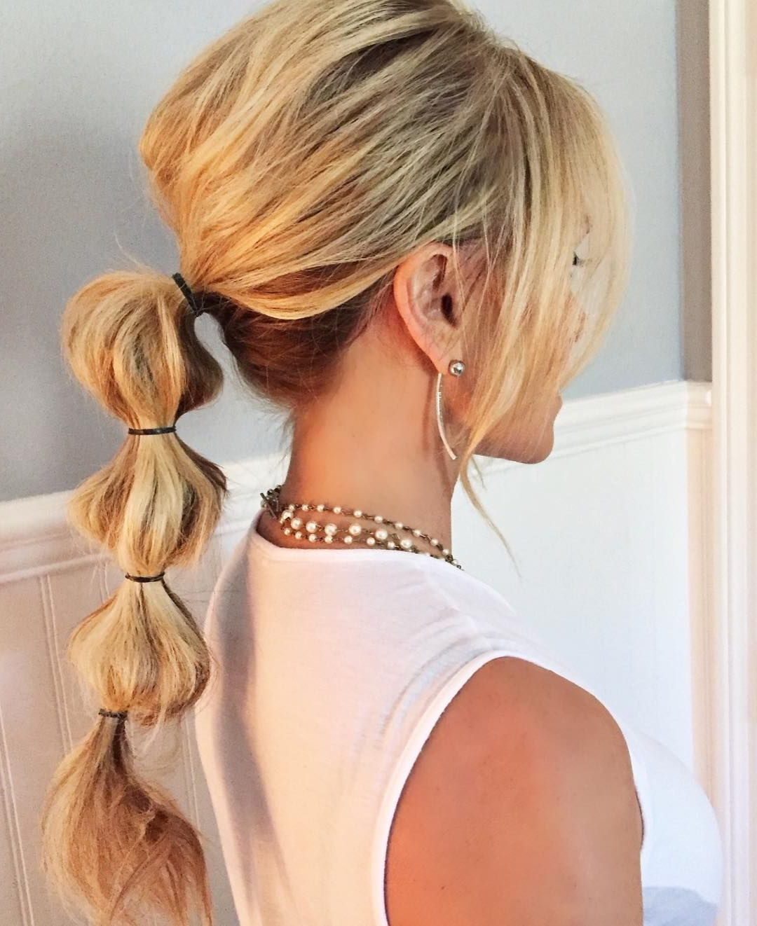 Real Housewives Of Oc's Tamra Judge's Bubble Ponytail In Well Known Bubble Pony Updo Hairstyles (View 5 of 20)