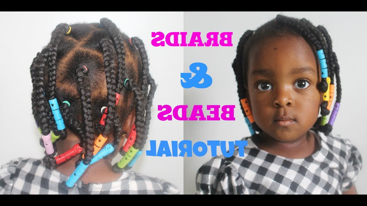 Recent Box Braids And Beads Hairstyles With Toddler/kid Hairstyle Ii Box Braids And Beads Tutorial —/ Neknatural (View 14 of 20)