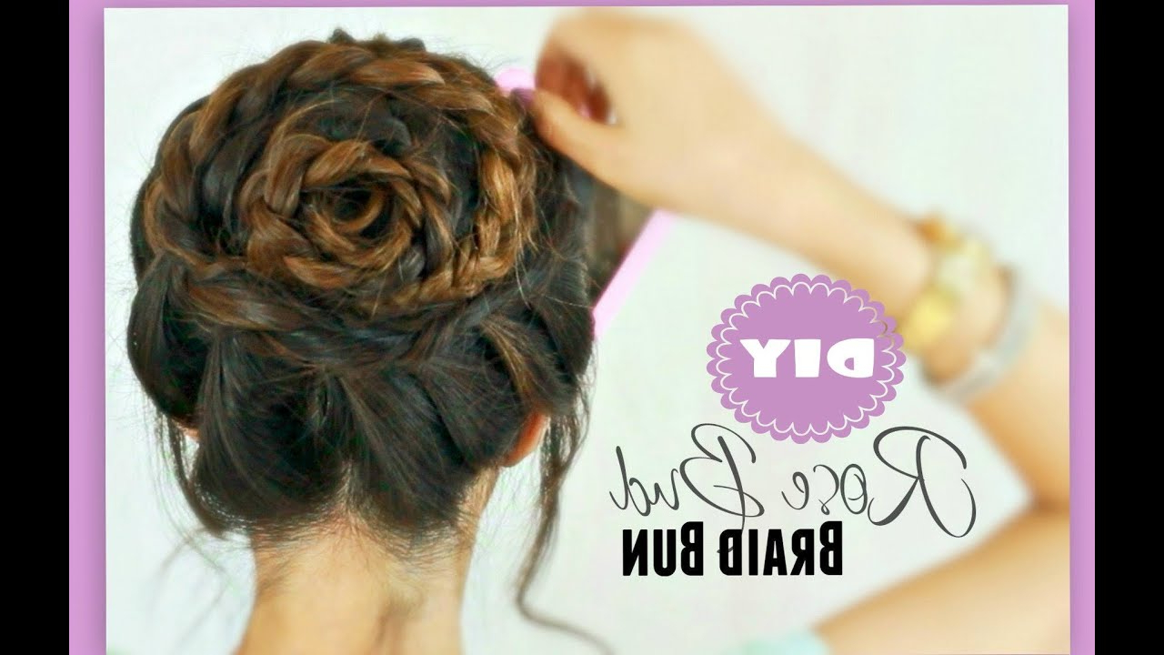 Recent Cinnamon Bun Braided Hairstyles Inside 13 Diy Braids And Braided Hairstyles – Lulus Fashion Blog (View 16 of 20)