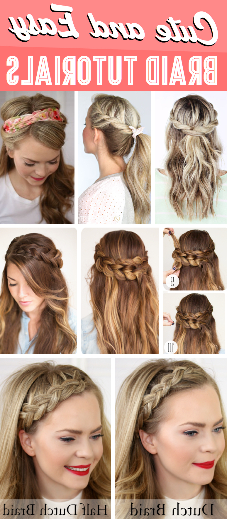 Recent Flawless Mermaid Tail Braid Hairstyles Within 30+ Cute And Easy Braid Tutorials That Are Perfect For Any (View 18 of 20)