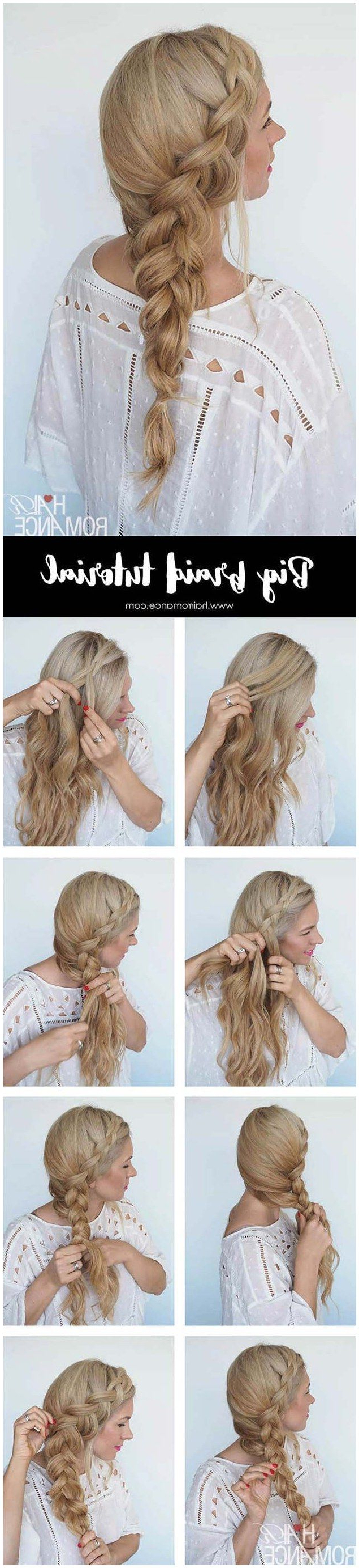 Recent Mermaid Fishtail Hairstyles With Hair Flowers For Best Hair Braiding Tutorials – Big Braid Instant Mermaid (View 3 of 20)