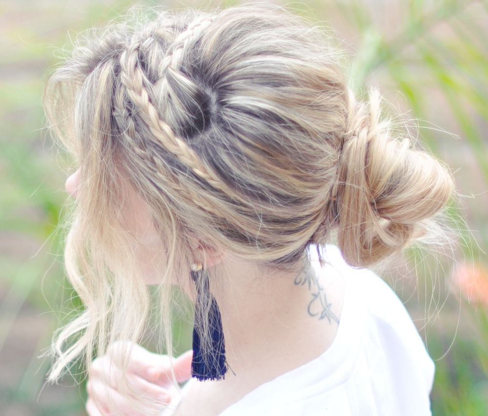Recent Messy Rope Braid Updo Hairstyles With Messy Rope Braids Hair Tutorial – Side And Tassel Earring In (View 11 of 20)