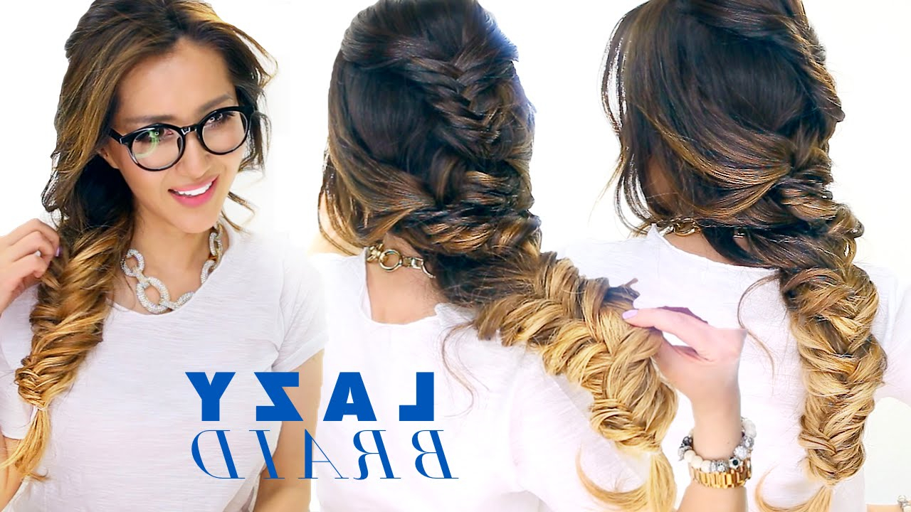Recent Messy Side Fishtail Braided Hairstyles Inside Lazy Girl's French Fishtail Braid Hairstyle ★ Cute School Hairstyles (View 14 of 20)