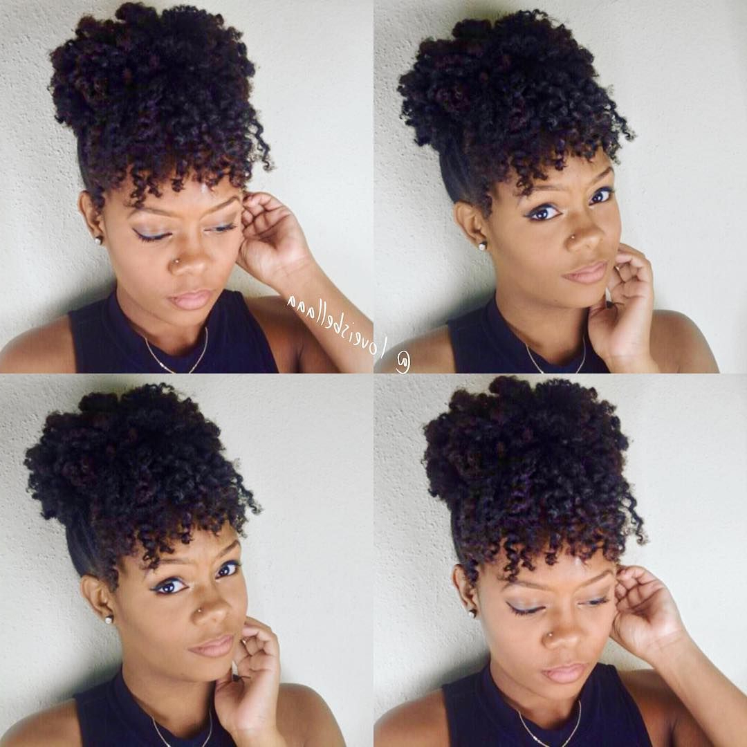 Featured Photo of Natural Bangs Updo Hairstyles