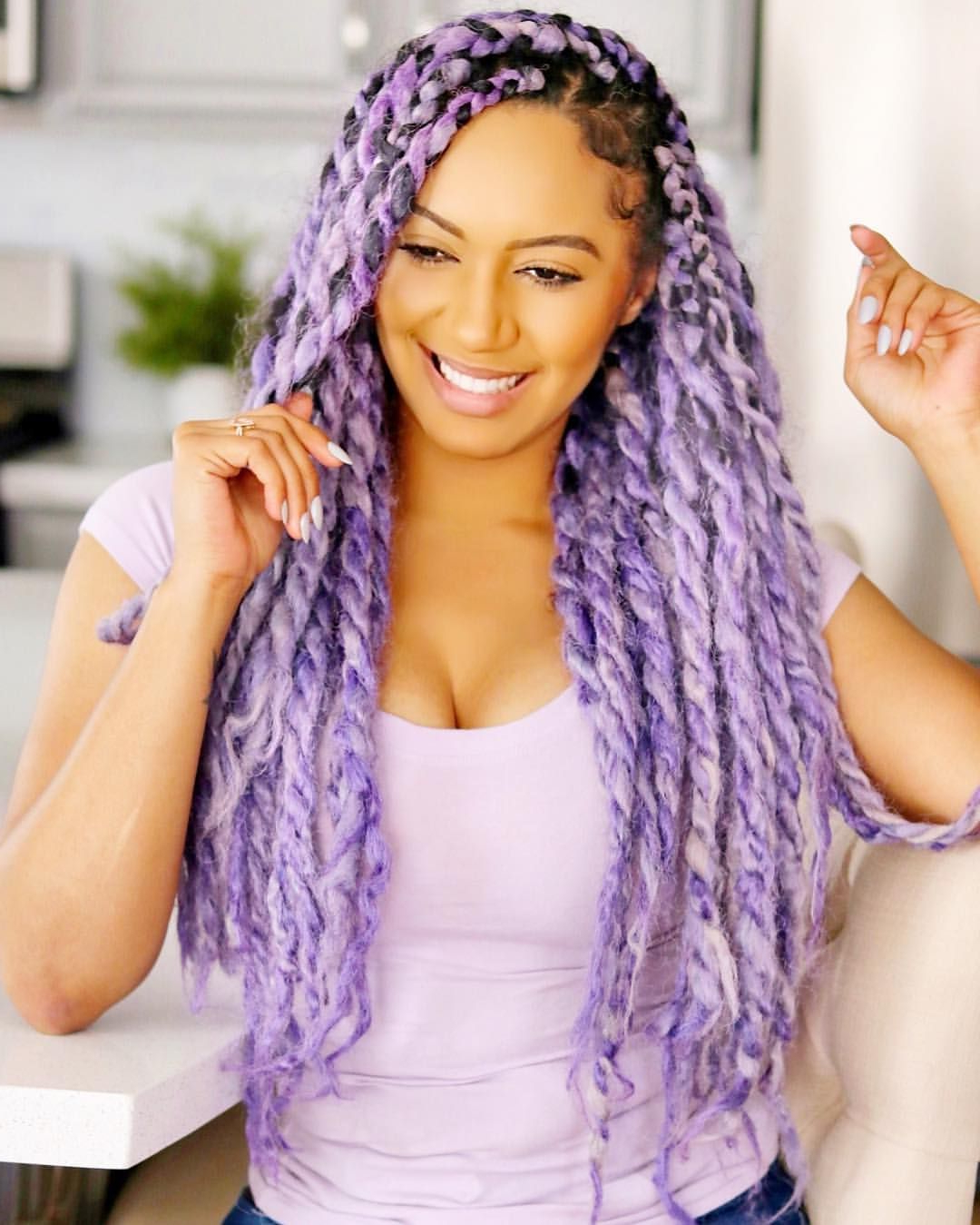 Recent Pastel Colored Updo Hairstyles With Rope Twist Pertaining To 25 Stylish Marley Twist Hairstyles You Should Try Now (View 7 of 20)