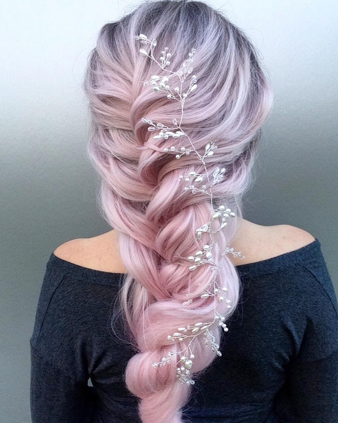 Recent Pink Rope Braided Hairstyles Inside Romantic Rope Braids In Dusty Rose (View 1 of 20)
