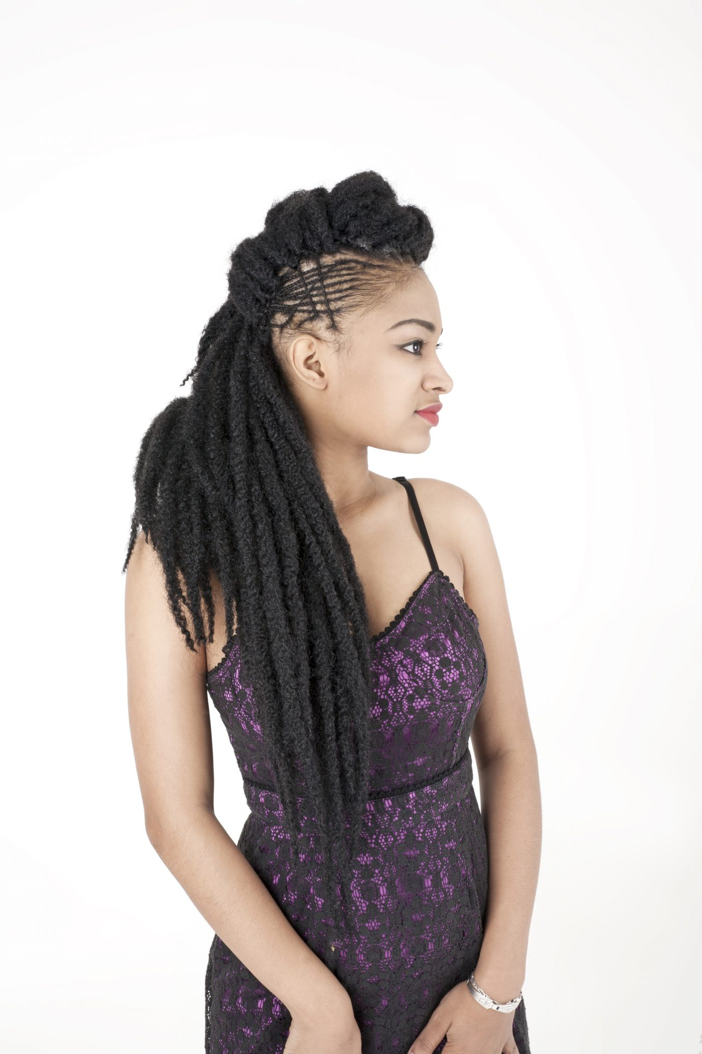 [%Recent Royal Braided Hairstyles With Highlights Throughout [Royal Silk Braid] Afro Twist Long Braid|[Royal Silk Braid] Afro Twist Long Braid Pertaining To Best And Newest Royal Braided Hairstyles With Highlights%] (View 1 of 20)