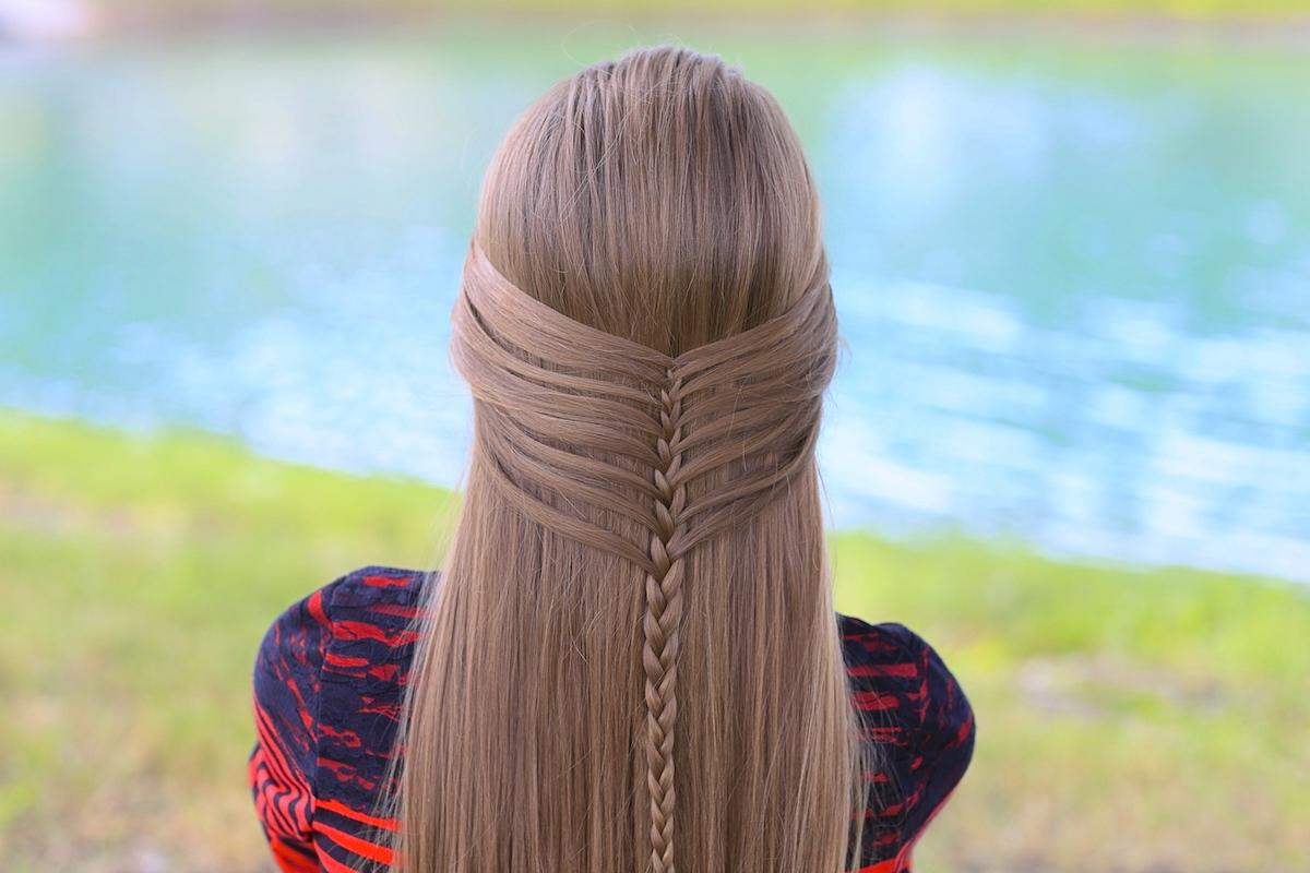 Recent Waterfall Mermaid Braid Hairstyles Intended For Mermaid Half Braid (View 17 of 20)