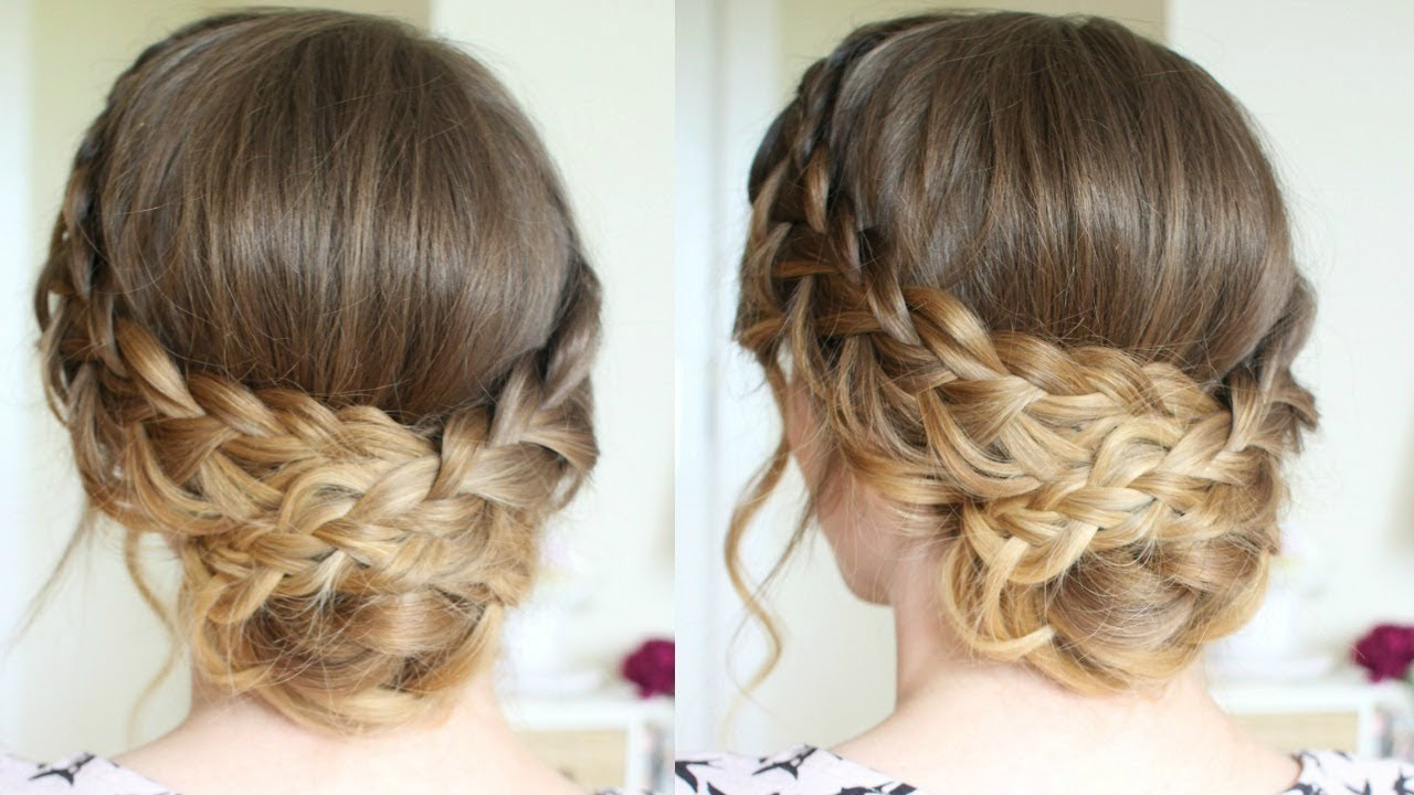 Romantic Braided Updo (View 4 of 20)