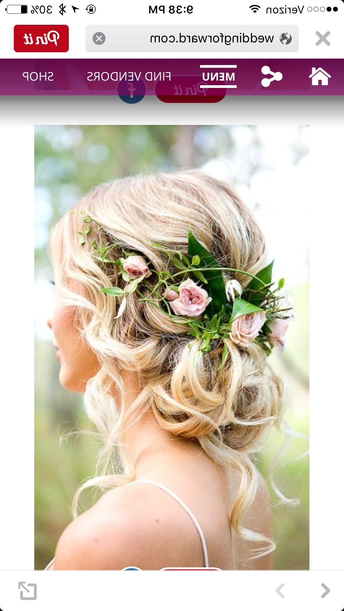 Romantic For Newest Romantic Florals Updo Hairstyles (View 19 of 20)