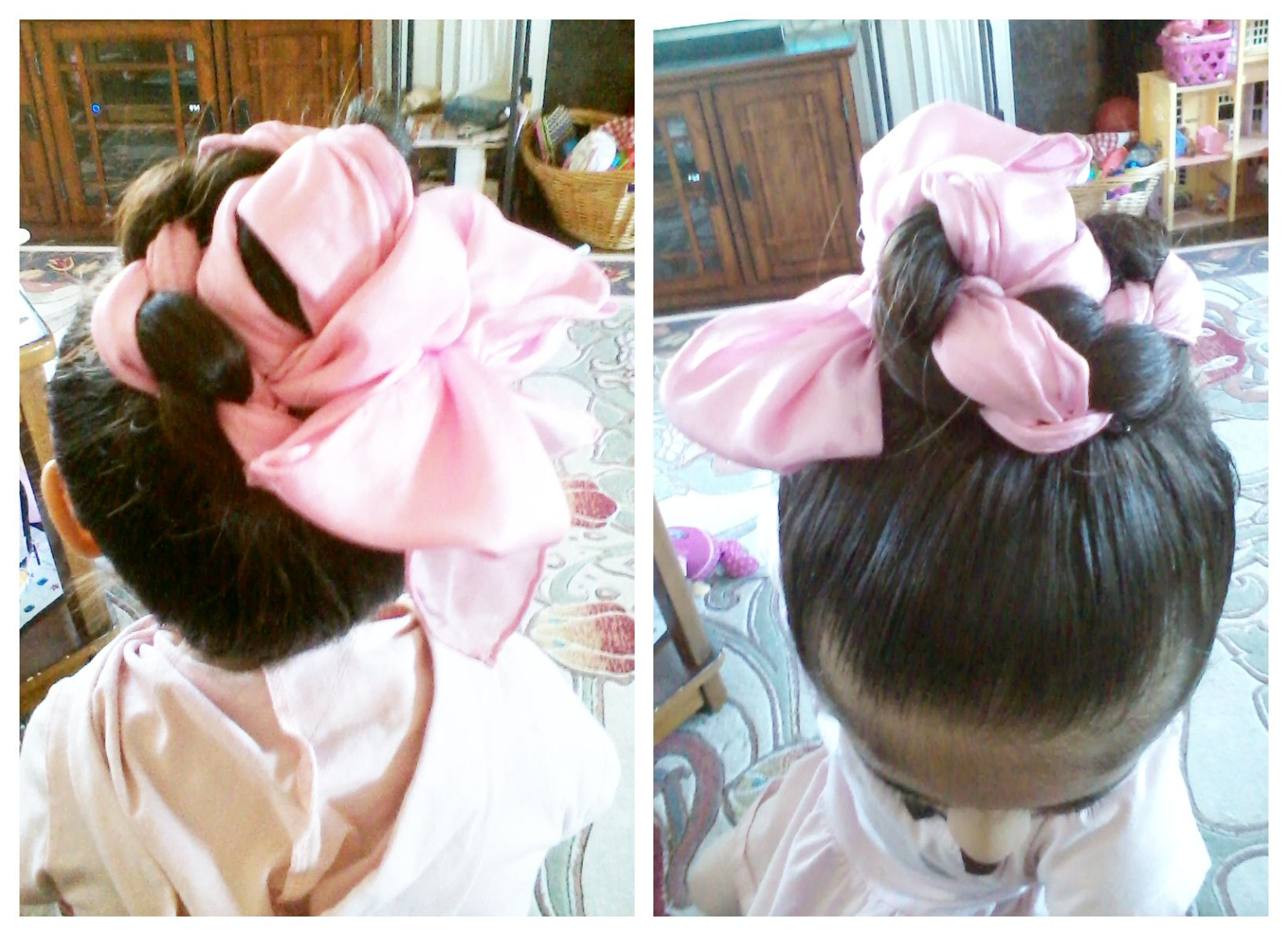Rope Braid Bun W/ Pink Scarf (View 7 of 20)
