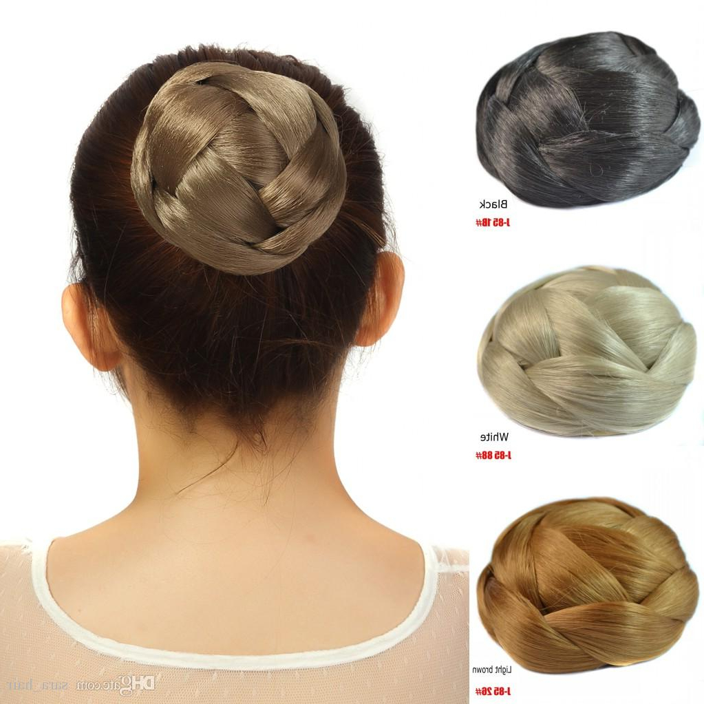 Sara Clip In Chignon Hair Bun 10*6Cm 61G Hairpiece Black Brown Donut Braided Chignon Buns Hair Extension Updo Synthetic Hair Hairpieces In Well Liked Braided Chignon Bun Hairstyles (View 19 of 20)