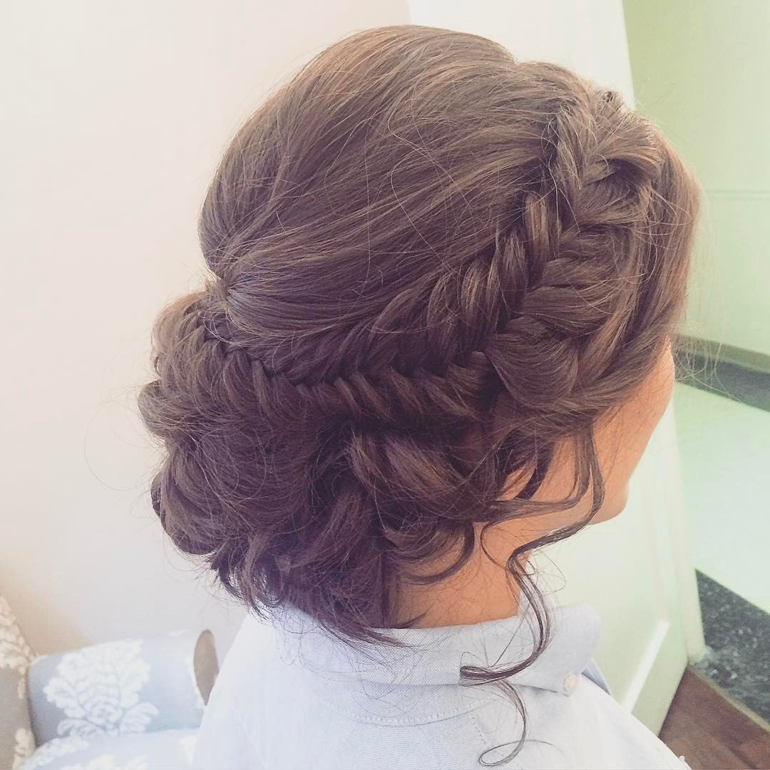 See This Instagram Photo@hairandmakeupbyemilyh Fishtail With Regard To Widely Used Fishtail Braid Updo Hairstyles (View 18 of 20)