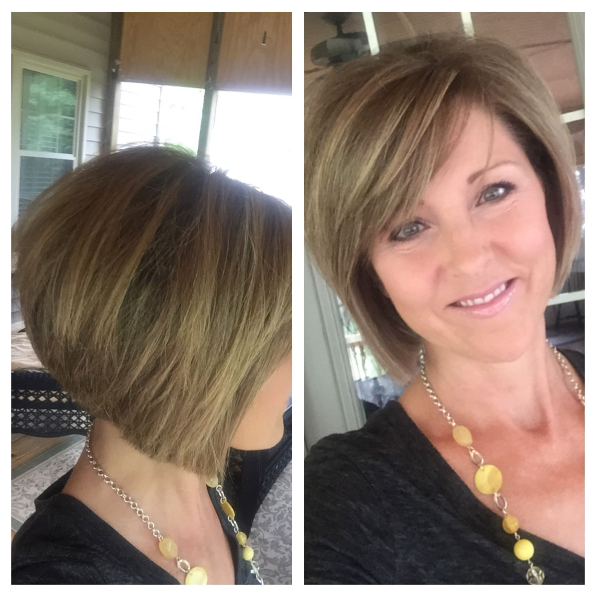 Short Layered Bob Hairstyle. Stacked Back (View 19 of 20)