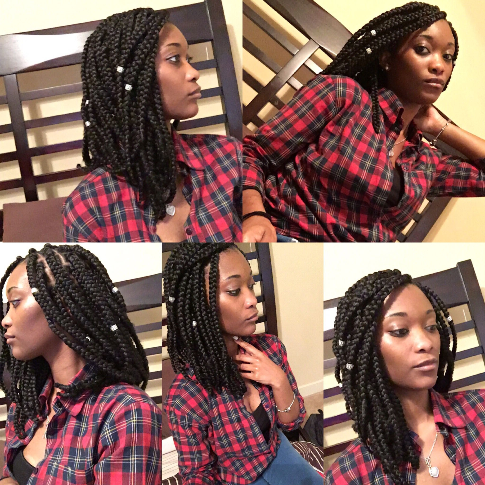 Shoulder Length Bob Box Braids Protective Style (View 7 of 20)