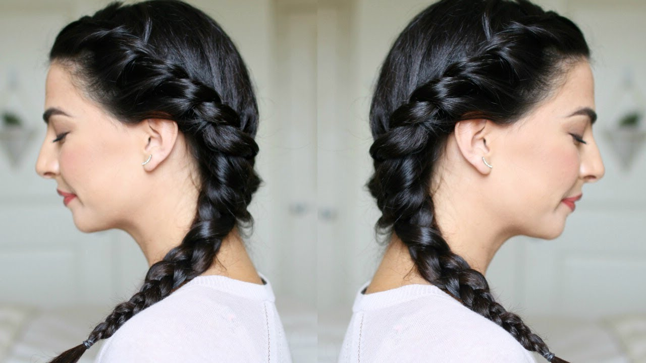 Side Braid Hair Tutorial For Beginners Within Well Known One Side Braided Hairstyles (View 9 of 20)
