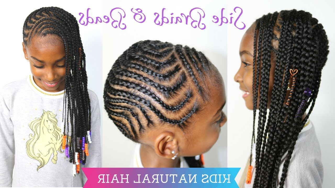 Side Braids & Beads Tutorial Pertaining To Current Lemon Tinted Lemonade Braided Hairstyles (View 19 of 20)