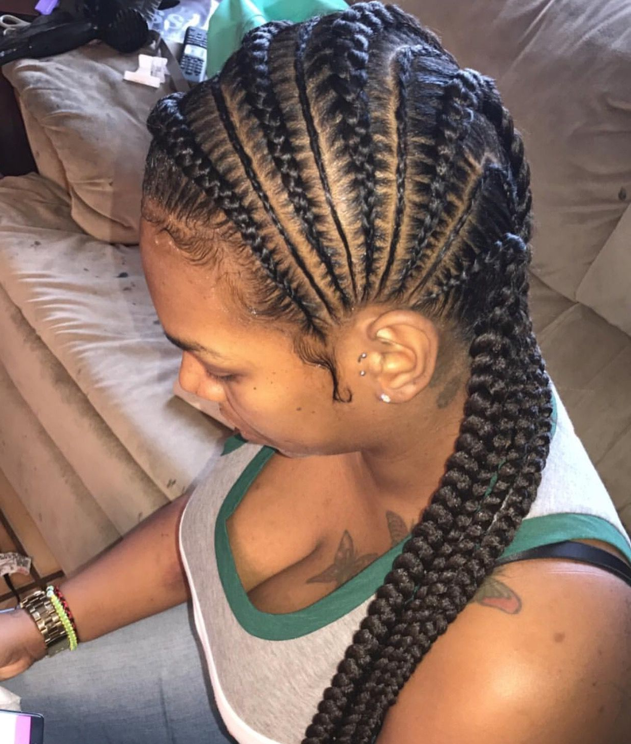 Side Feed In Goddess Braids (View 13 of 20)