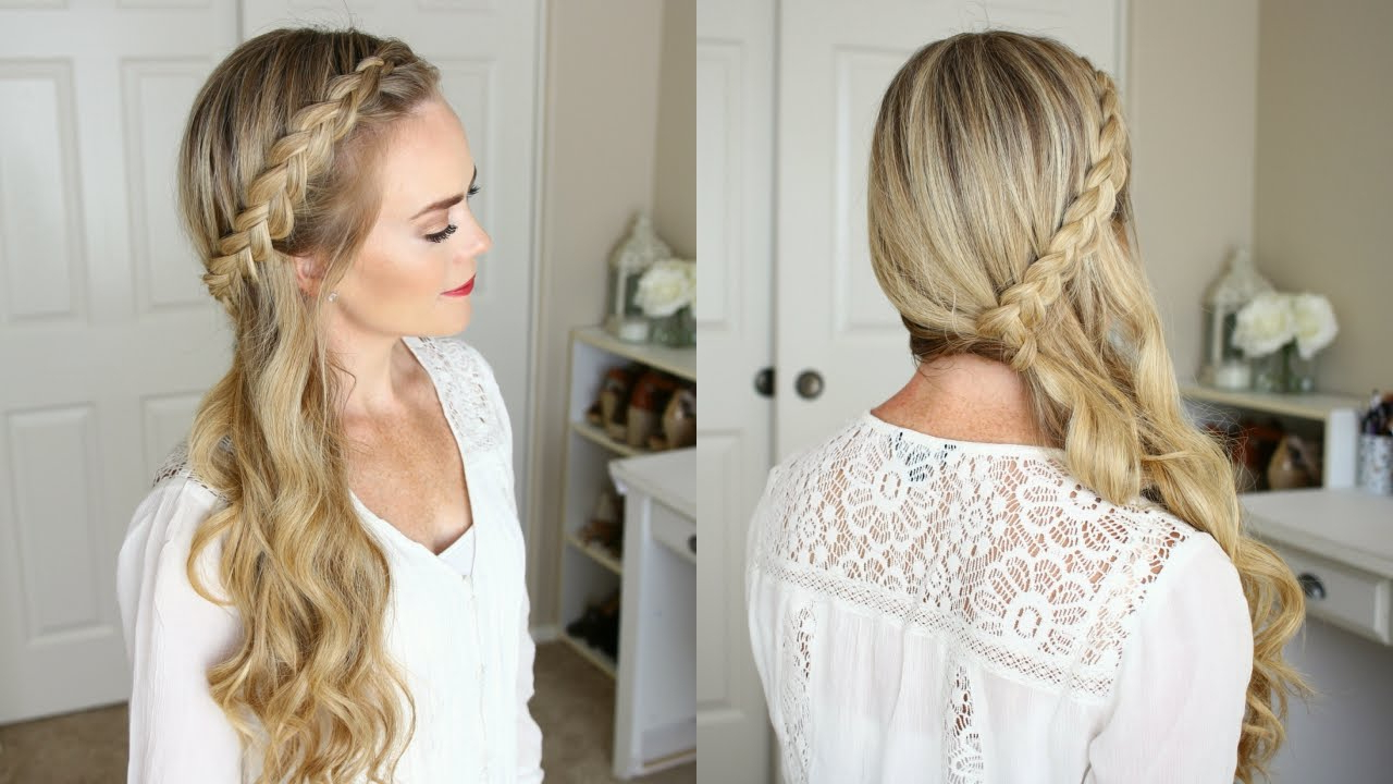 Sideswept Dutch Braid (View 5 of 20)