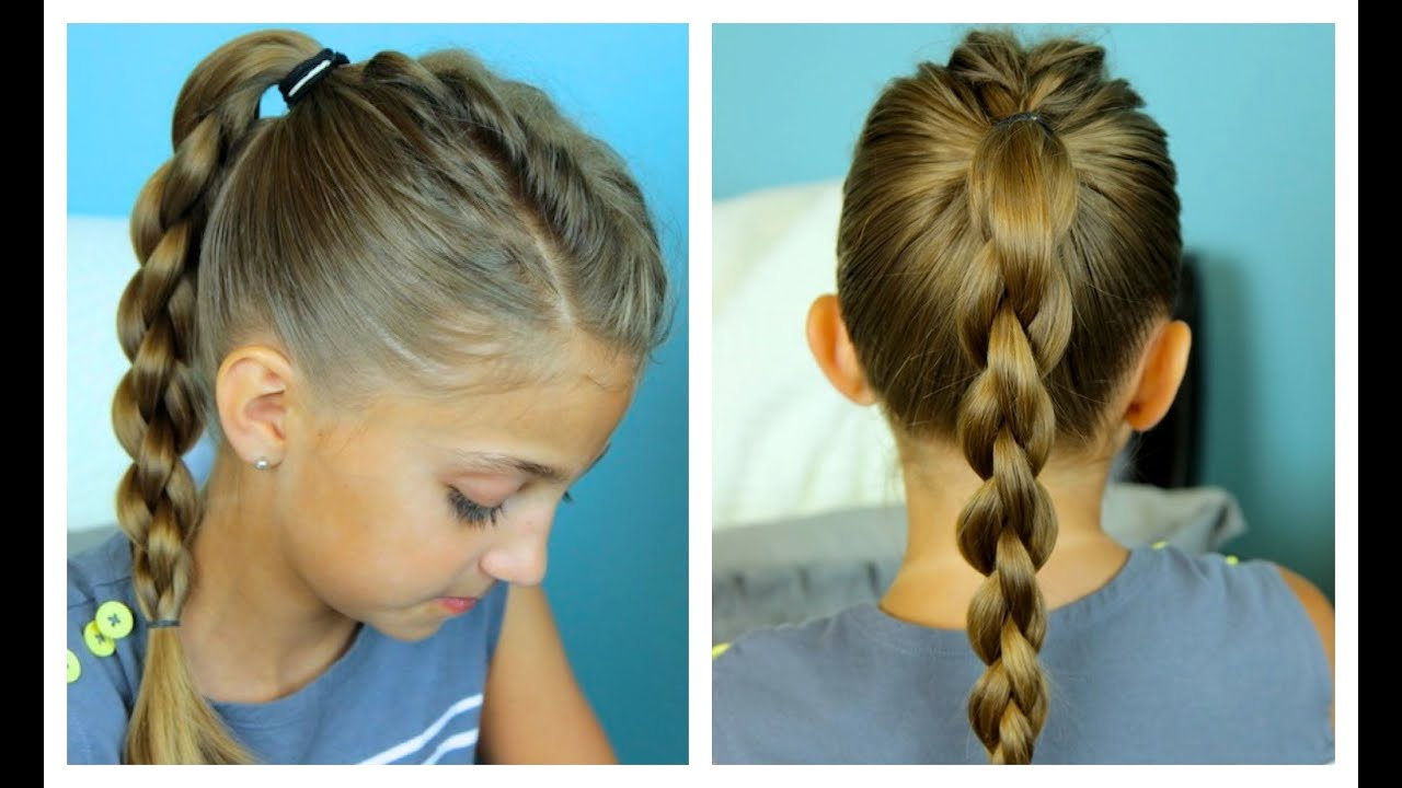 Single Frenchback Into 3d Round Braid (Gallery 14 of 20)