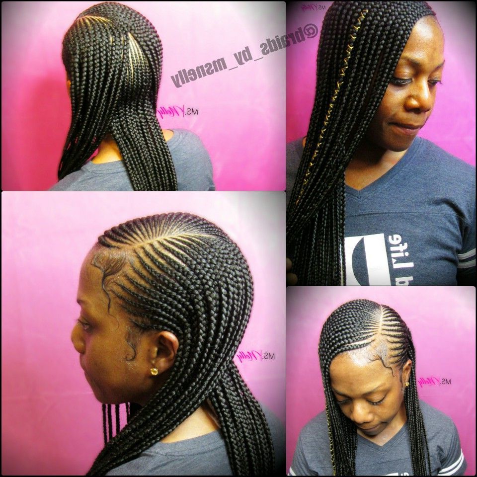 Small Feeders, Braids, Lemonade Braids, 2 Layer Braids, Neat Within Fashionable Straight Mini Braids With Ombre (View 18 of 20)