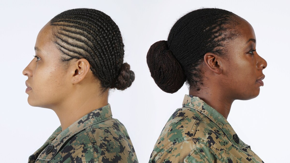 Soldiers Cheer Army's Decision To Authorize Dreadlocks In Throughout Favorite Tightly Coiled Gray Dreads Bun Hairstyles (View 19 of 20)