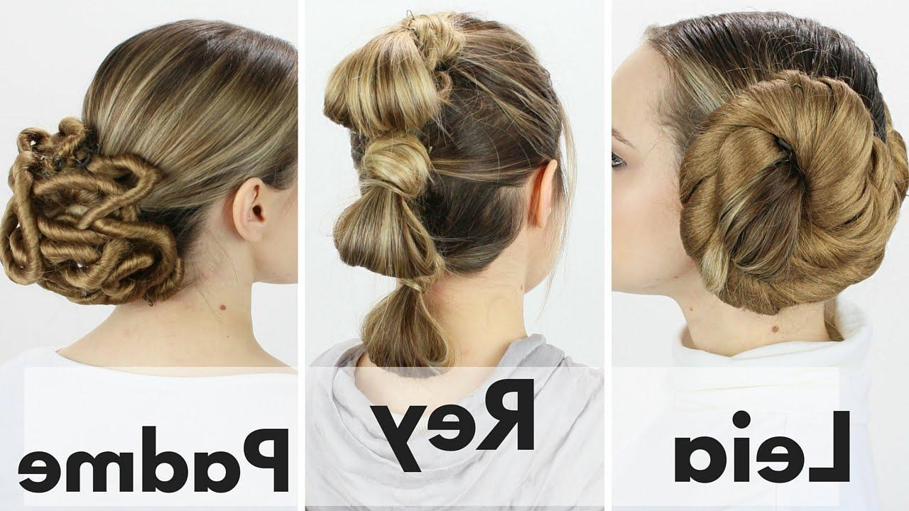 Star Wars Hairstyles – From Princess Leia's Buns To Rey's Throughout Recent Triple Under Braid Hairstyles With A Bun (View 7 of 20)