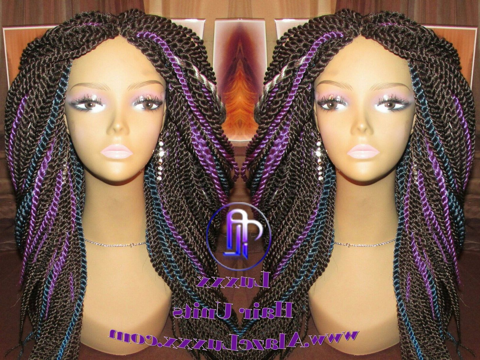 Straight Long Short Galaxy Unicorn Mermaid Senegalese Twist Wig Unit!  Alopecia Natural Hair Kinky Marley Crochet Twist Box Braid Braided Faux Loc  D In Most Recently Released Mermaid'S Hairpiece Braid Hairstyles (View 20 of 20)