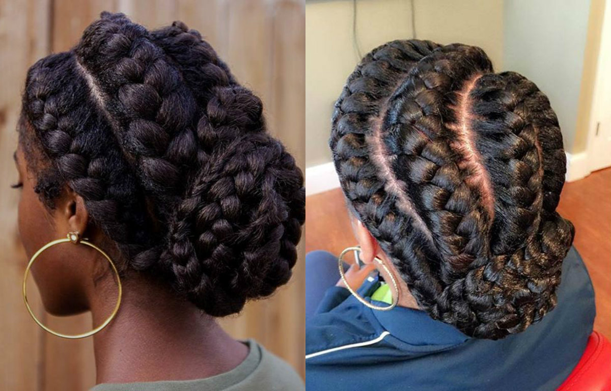 Stunning Goddess Braids Hairstyles For Black Women Pertaining To Preferred Big Bun Braided Hairstyles (View 3 of 20)