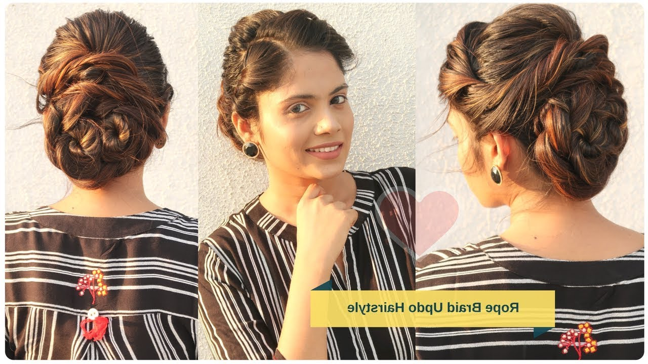 Stylish Bun Hairstyle For Wedding (View 10 of 20)
