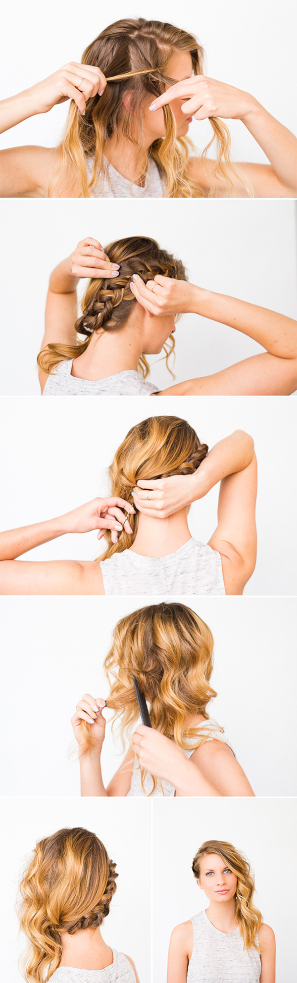 Swept Away: Diy Side Swept Braid And Wave Hair – Paper And Throughout Most Up To Date Side Swept Carousel Braided Hairstyles (View 2 of 20)