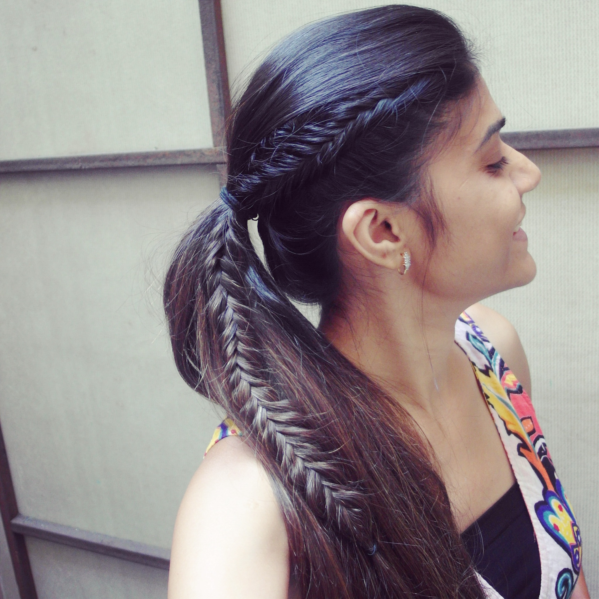 Tanvi Vayla » Fishtail Braid Into High Ponytail Pertaining To Preferred Ponytail Fishtail Braided Hairstyles (Gallery 15 of 20)