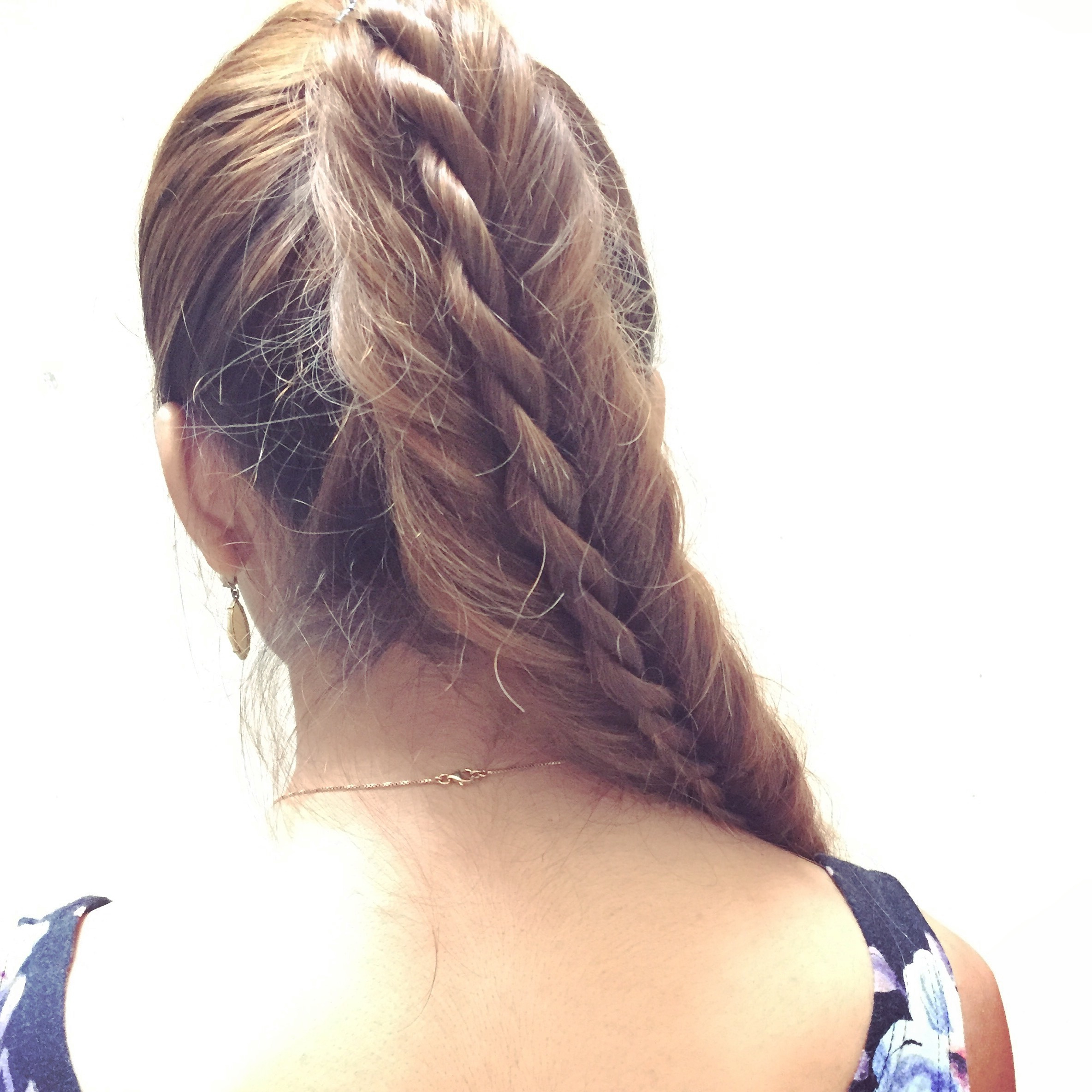 Tanvi Vayla » Fishtail+rope Braid Ponytail Throughout Most Popular Rope And Fishtail Braid Hairstyles (View 6 of 20)