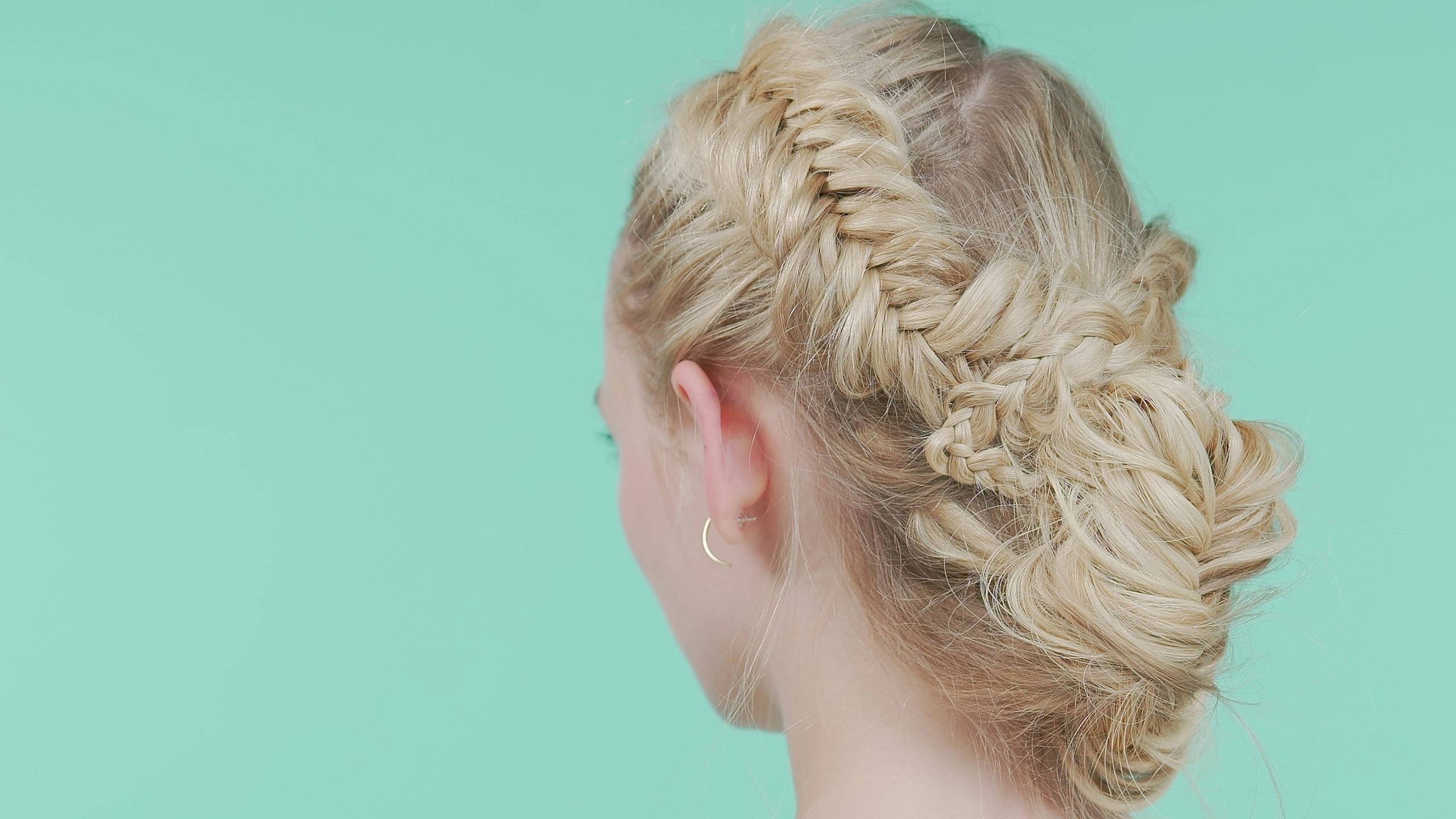 Teen Intended For Widely Used Criss Cross Braid Bun Hairstyles (View 19 of 20)
