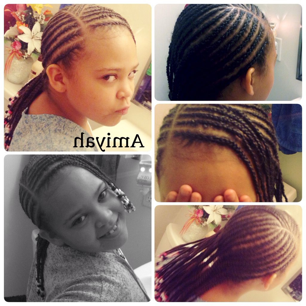 The Attitude !!! Low Shoulder Cornrows With Bangs & Beads With Regard To Latest Beaded Bangs Braided Hairstyles (Gallery 18 of 20)