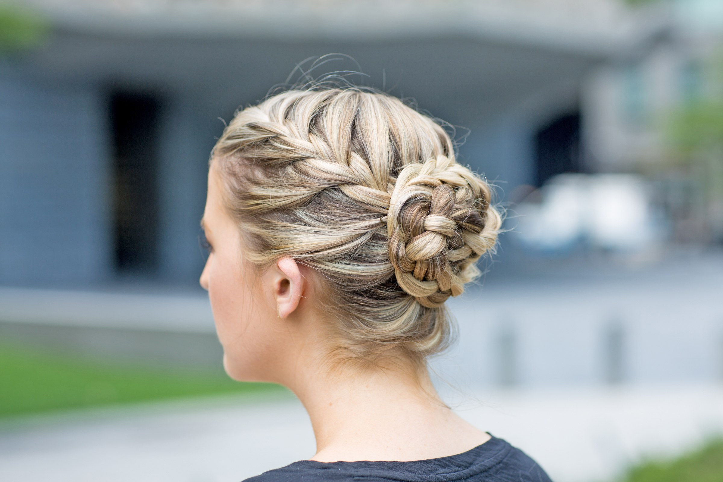 The Best Braided Hairstyles For Fine Hair And Curly Hair Intended For Best And Newest Reverse French Braid Bun Updo Hairstyles (Gallery 13 of 20)
