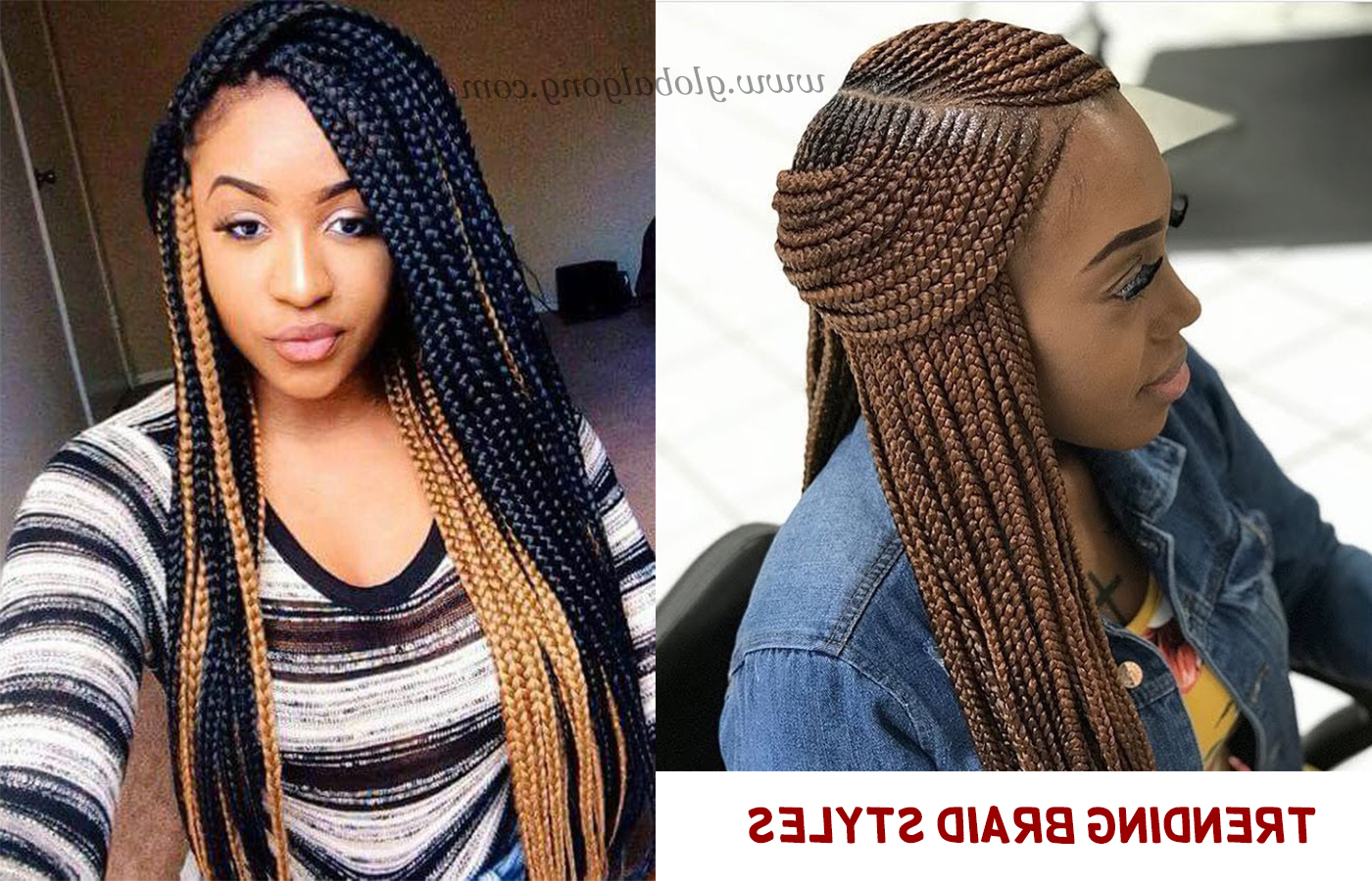 The Most Popular Trending Braid Styles With Extensions For Well Known Blue Sunset Skinny Braided Hairstyles (Gallery 14 of 20)