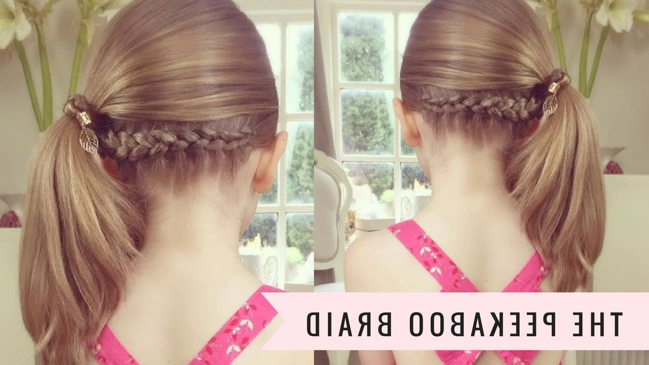 The Peekaboo Braidsweethearts Hair With Regard To Most Recent Peek A Boo Braided Hairstyles (Gallery 4 of 20)