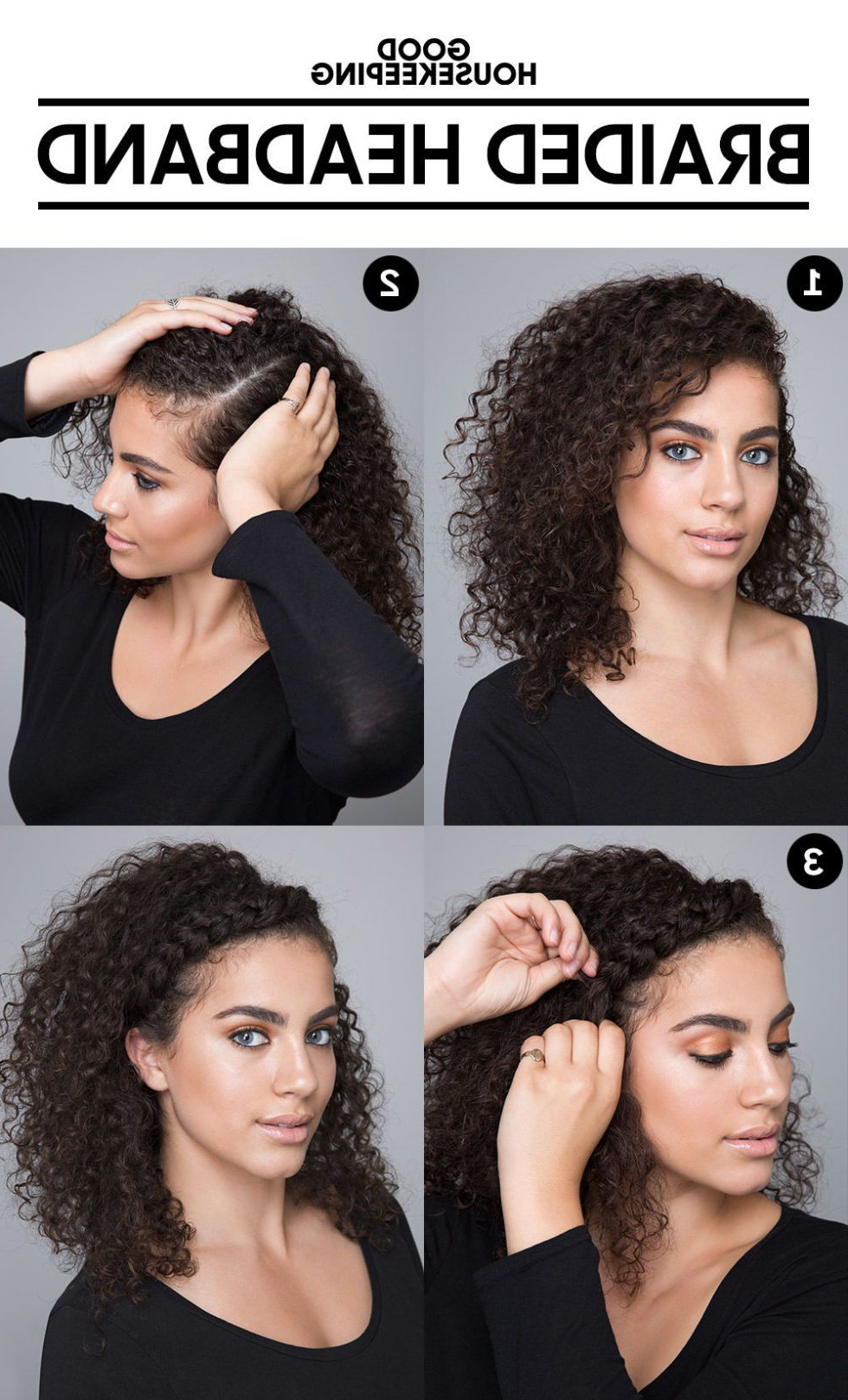 "The ""pineapple Trick"" Will Give You Defined Curls Overnight In Most Recent Braided Headband Hairstyles For Curly Hair (Gallery 15 of 20)"