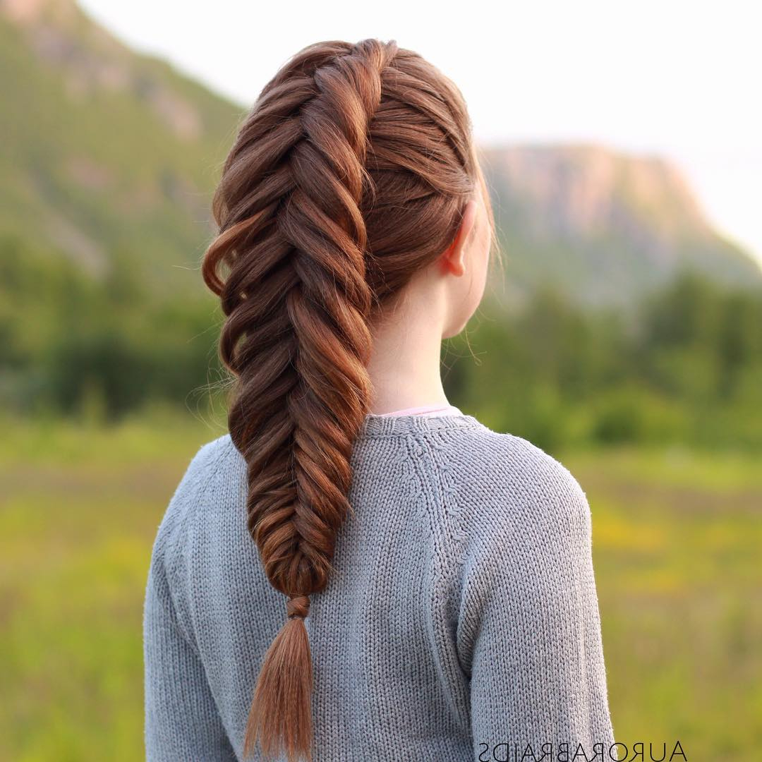 The Timeless Beauty Of Fishbone Braids With Regard To Famous Thick Two Side Fishtails Braid Hairstyles (Gallery 9 of 20)