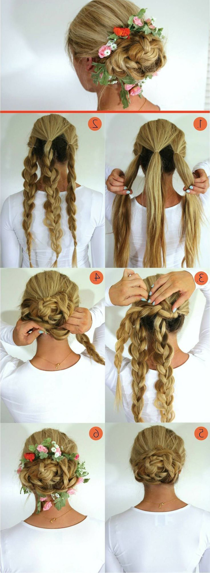 The Triple Braided Bun Hairstyle (View 6 of 20)