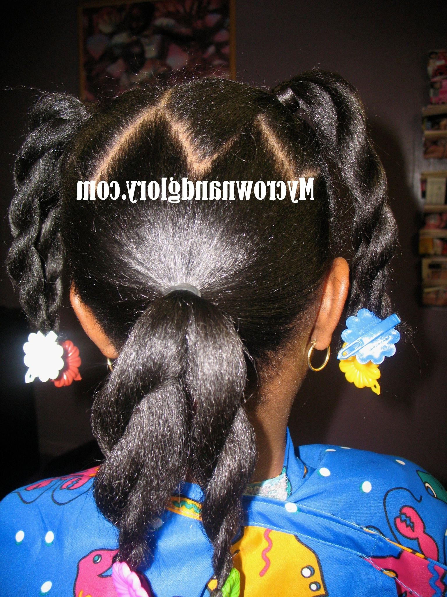 Three Ponytails Separated Into Six With Zig Zag Partings And In Fashionable Zig Zag Ponytail Updo Hairstyles (Gallery 10 of 20)
